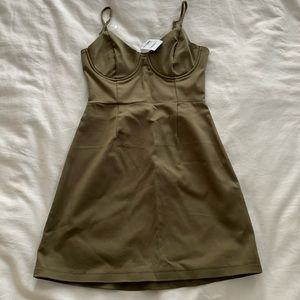 Army Green Tight Fitted Dress